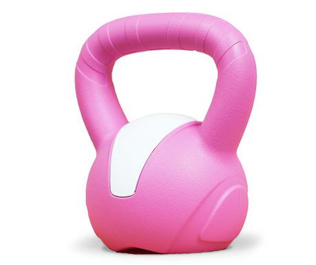 Kettlebell ročna utež Emotion Dark Pink 8 kg