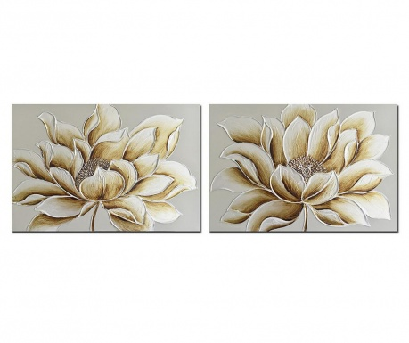 Set 2 tablouri Jetta Flowers 70x90 cm