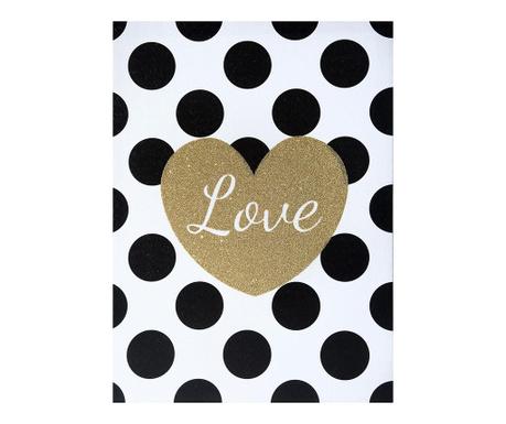 Tablou Dotty Love 30x40 cm