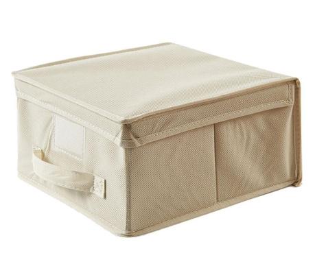 Kutija za spremanje s poklopcem Monik Ecru