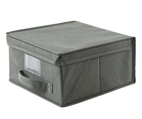 Shranjevalna škatla s pokrovom Monik Grey