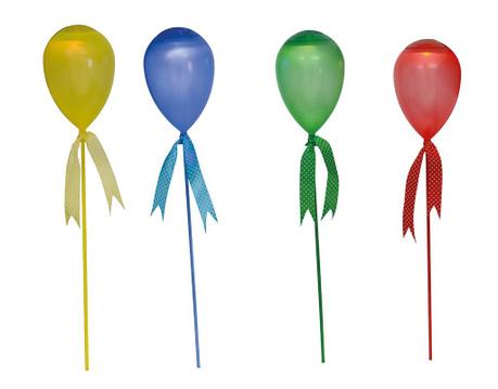 Sada 4 solárních lamp Balloon