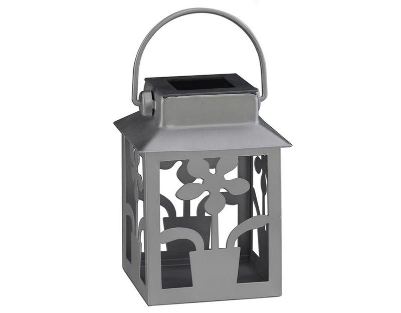 Solarna lanterna Grey Flower