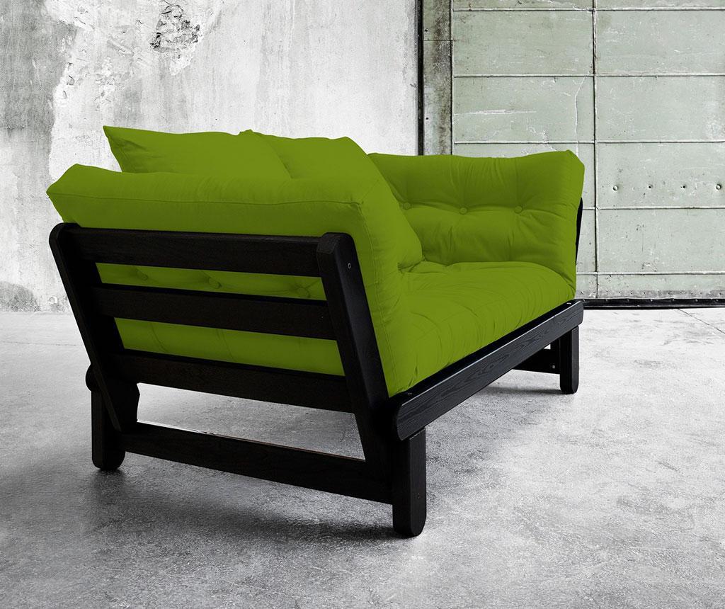 Sofa extensibila Beat Black and Lime