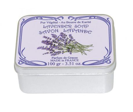 Mydło w pudełku z pokrywką Lavender Tin 100 g