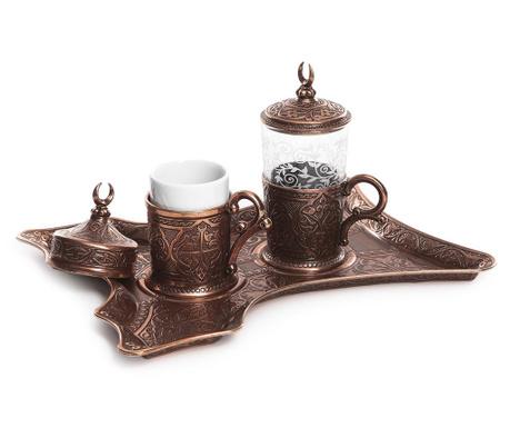 Canan Copper 5 darabos Kávéskészlet
