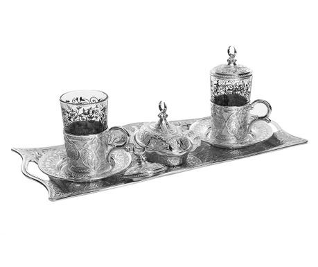 Сервиз за кафе 9 части Khali Silver