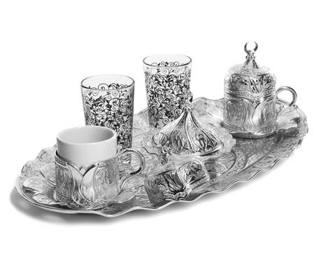 Metin  Silver 11 darabos Kávéskészlet