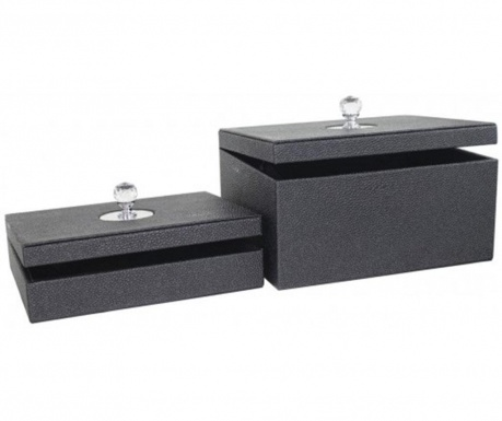 Zestaw 2 pudełek z pokrywką Stinblack