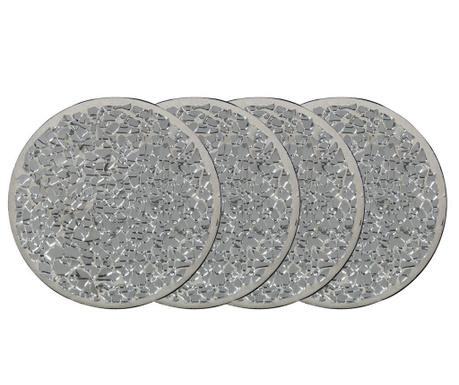 Комплект 4 подложки Silver Mosaic