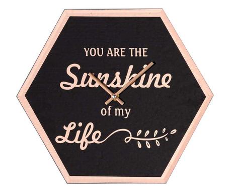 Стенен часовник Sunshine Black