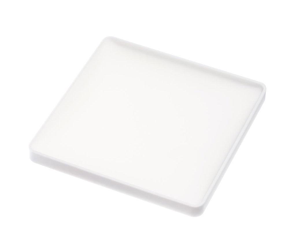 Square White Poháralátét