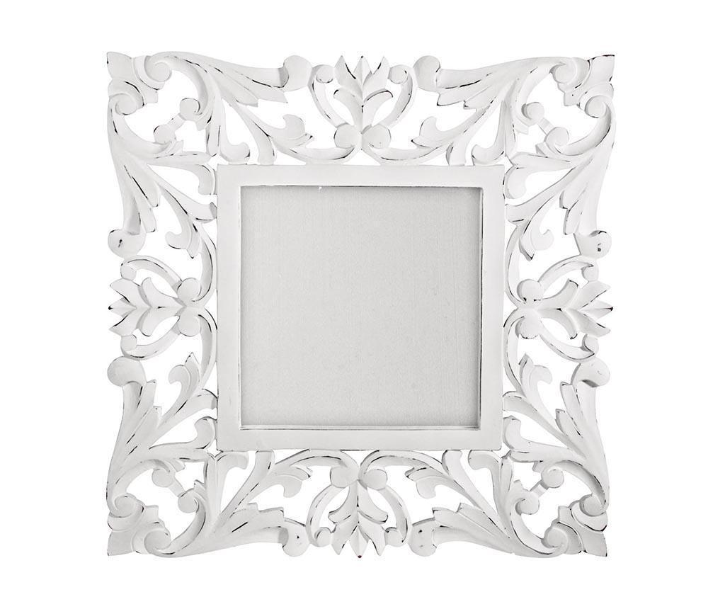 Огледало Square Laureals White