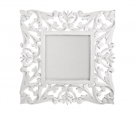 Ogledalo Square Laureals White
