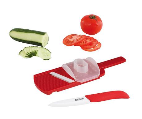 Sada kráječ na zeleninu a keramický nůž Sleek