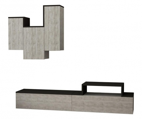 Set komoda TV i viseći element Tirtil Beige Anthracite