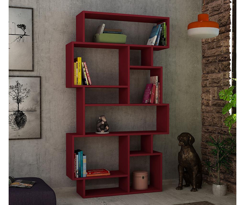 Karmato Claret Red Könyvszekrény
