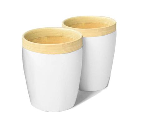Комплект 2 чаши Bamboo Life White
