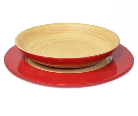 Сервиз за маса 2 части Bamboo Life Red