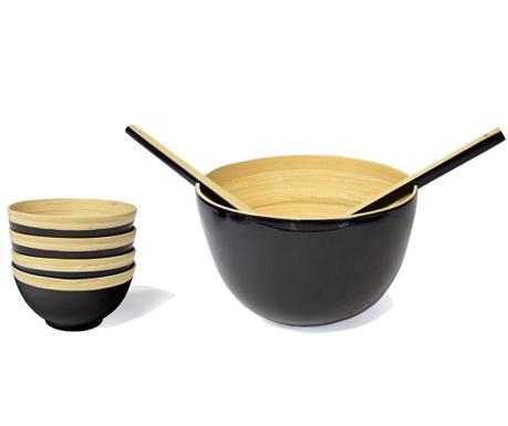 Сервиз за маса 7 части Bamboo Life Black