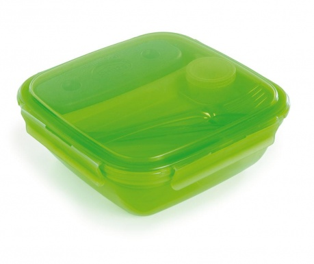 Cutie pentru pranz cu 2 tacamuri Energy Ice Green 1.5 L