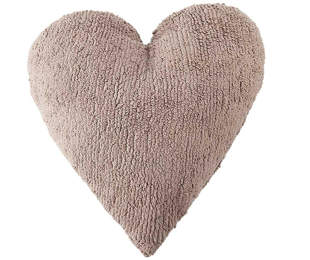 Heart Linen Díszpárna 47x50 cm