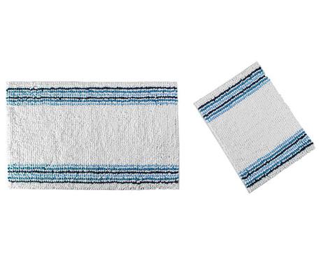Zestaw 2 dywaników łazienkowych Line Blue