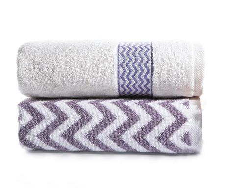 Zestaw 2 ręczników kąpielowych Lance Lila 50x90 cm