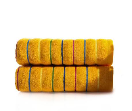 Zestaw 2 ręczników kąpielowych Molgaard Dark Yellow 50x90 cm