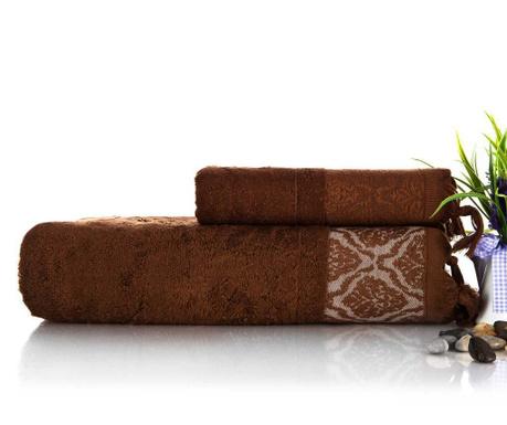 Ręcznik kąpielowy Damask Brown 50x90 cm