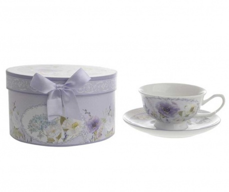 Комплект чашка и чинийка Blue Poppy