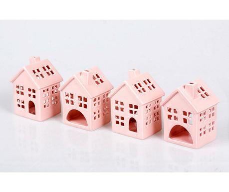 House Pink 4 db Gyertyatartó