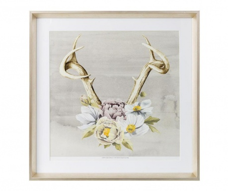 Картина Horns and Flowers 60x60 см