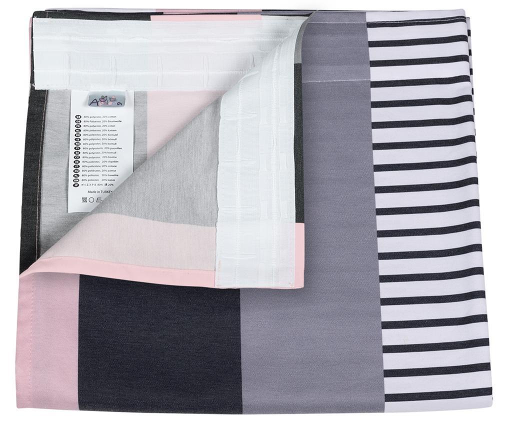 Zastor Stripe Pink 140x270 cm