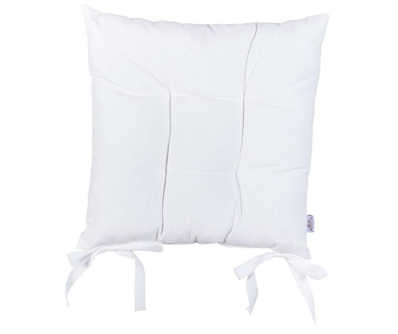 Sedežna blazina Pure White 37x37 cm