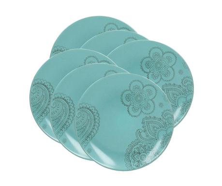 Moon Turquoise 6 db Desszertes tányér