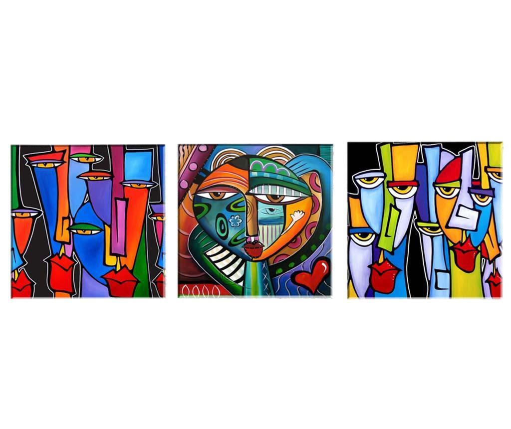 Set 3 slike Picasso 30x30  cm