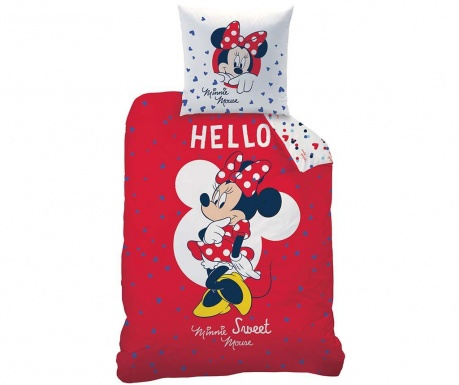 Posteljina Single Ranforce Disney Minnie Hello