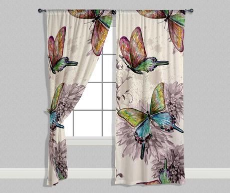Set 2 zastora Butterflies 140x240 cm
