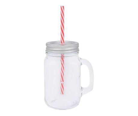 Чаша с капак и сламка Hana 450 мл