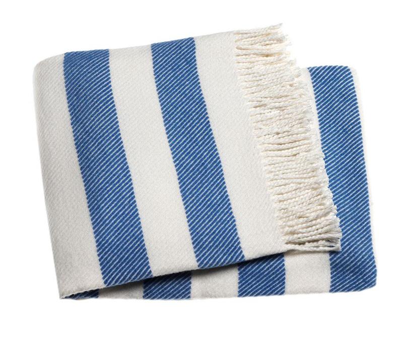 Candy Stripe Cobalt Pléd 140x180 cm