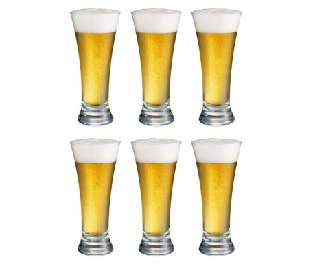 Set 6 kozarcev za pivo Jake 340 ml