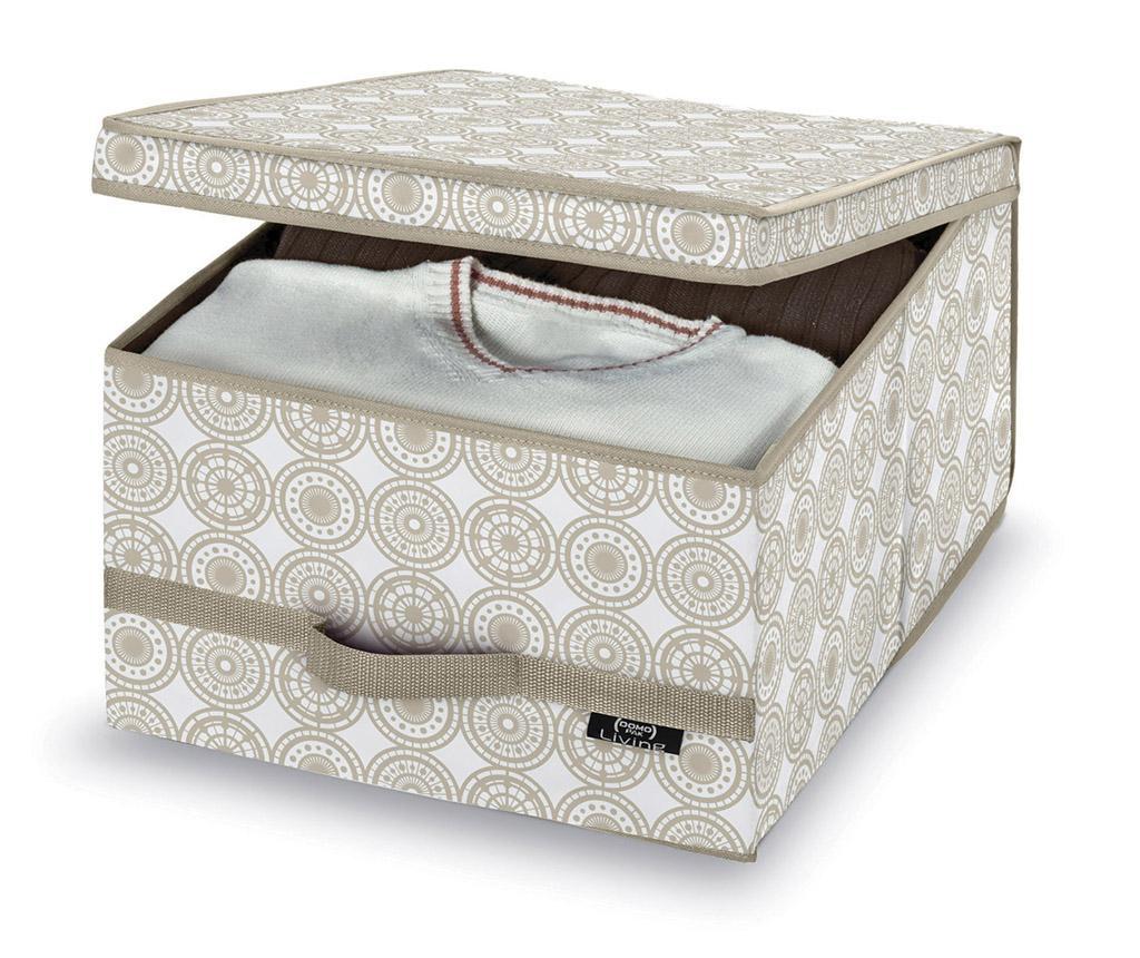 Škatla za shranjevanje s pokrovom Living Ella Wide M