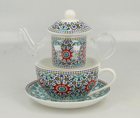 Morocco Teáskanna  csészével és  kistányérral