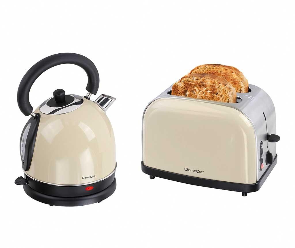 Set prajitor de paine si fierbator electric Vintage Breakfast Cream