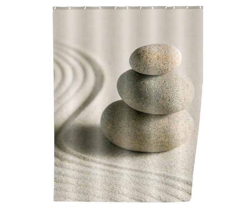 Zavjesa za tuš kabinu Sand and Stones 180x200 cm