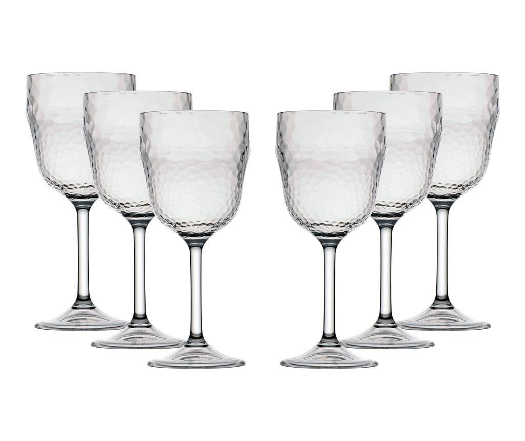 Set 6 pahare pentru vin Ice 410 ml