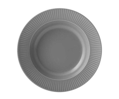 Set 6 farfurii adanci Grey Quebec