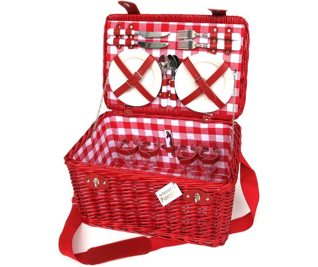 Cos echipat pentru picnic 4 persoane Amya