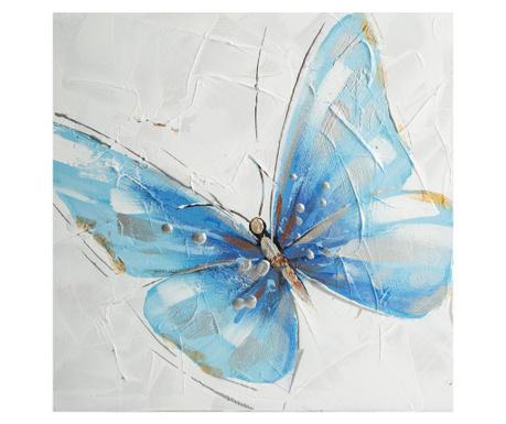 Blue Butterfly Festmény 30x30 cm